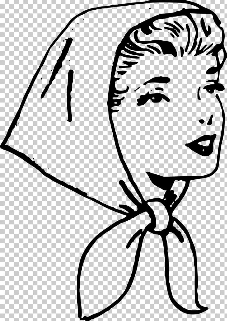 White girl scarf clipart freeuse Headscarf PNG, Clipart, Art, Artwork, Black, Black And White ... freeuse