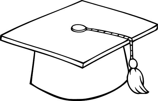 White graduation hat clipart clipart black and white stock Graduation Cap Drawing | Free download best Graduation Cap ... clipart black and white stock