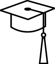 White graduation hat clipart banner download Graduation Cap Clipart Black And White | Free download best ... banner download