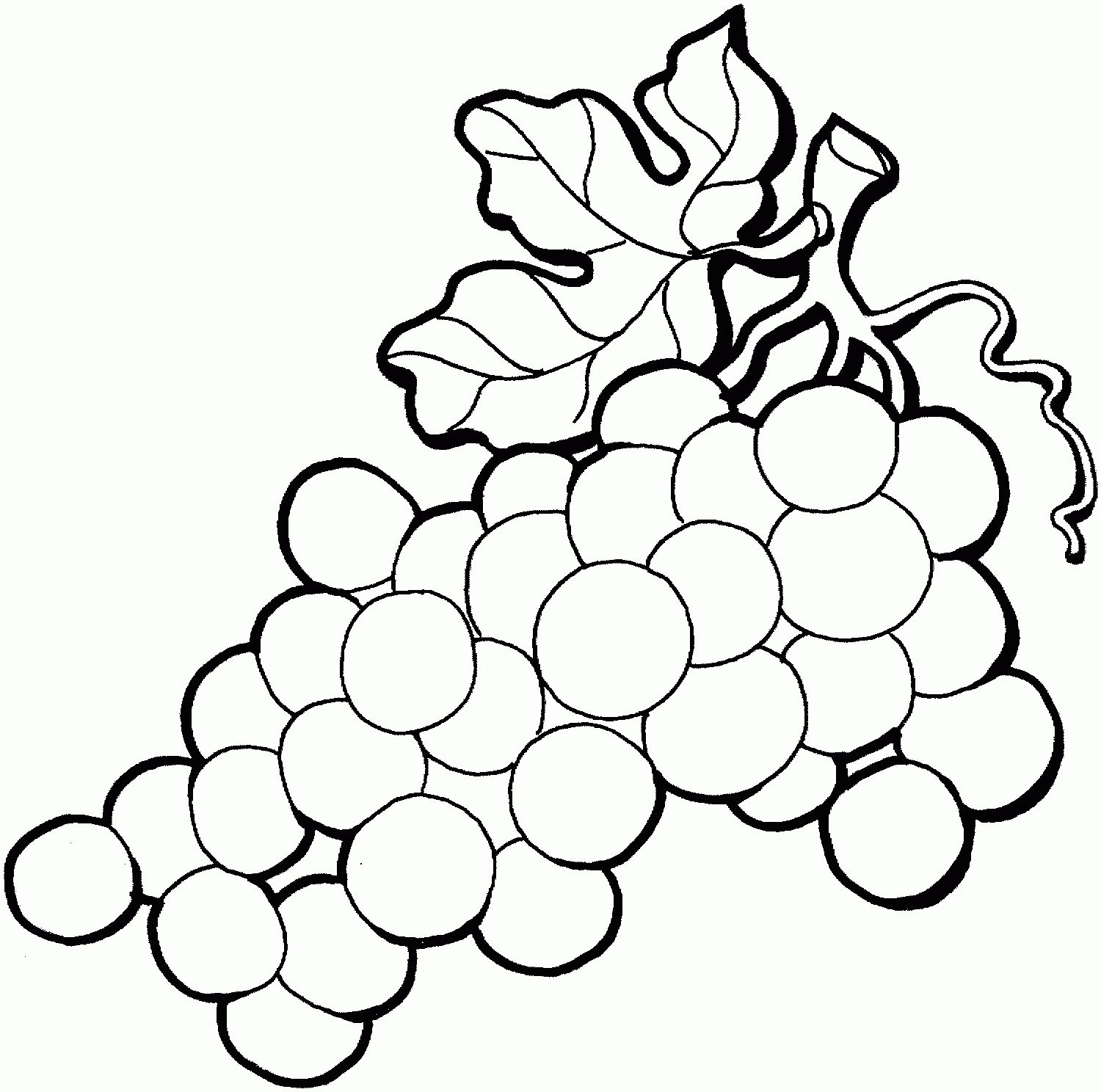 White grapes clipart black and white download Grape Clipart Black And White – Pencil And In Color Grape ... black and white download