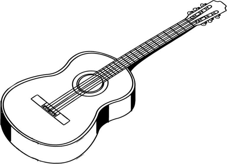 White guitar clipart