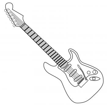 White guitar clipart black and white stock Free Guitar Clip Art | LoveToKnow black and white stock