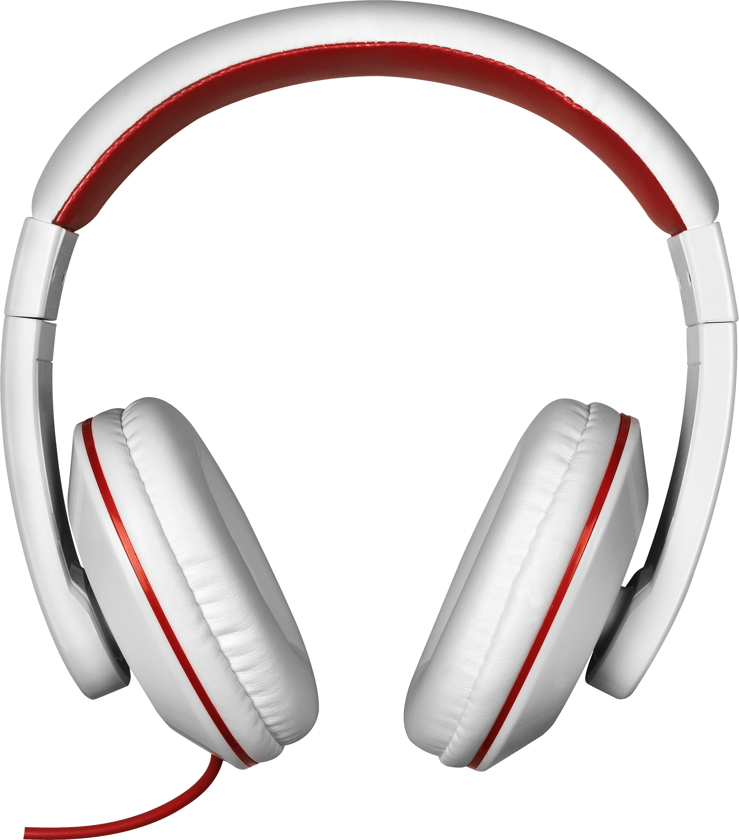 White headphone clipart transparent background clip black and white library Red White Headphones transparent PNG - StickPNG clip black and white library