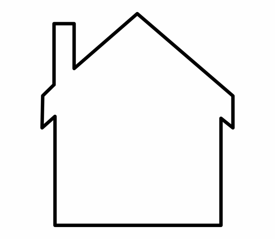 Outline of a house image white clipart png image free stock House Home White Shapes Chimney Roof - House Outline Clip ... image free stock