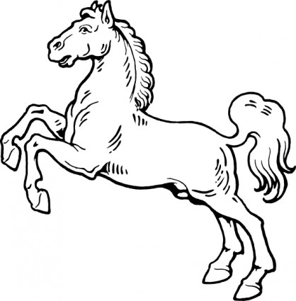 White horse black horse clipart clip black and white Best Horse Clipart Black and White #28962 - Clipartion.com clip black and white
