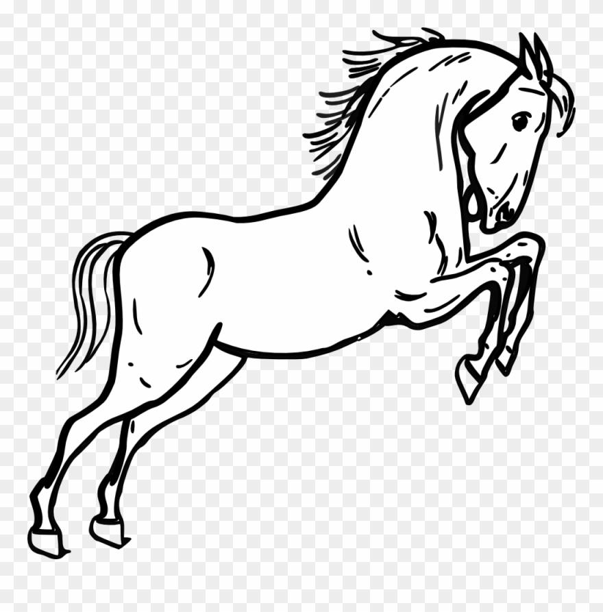 White horse black horse clipart vector black and white library Horse Cliparts Black And White - Png Download (#1219428 ... vector black and white library