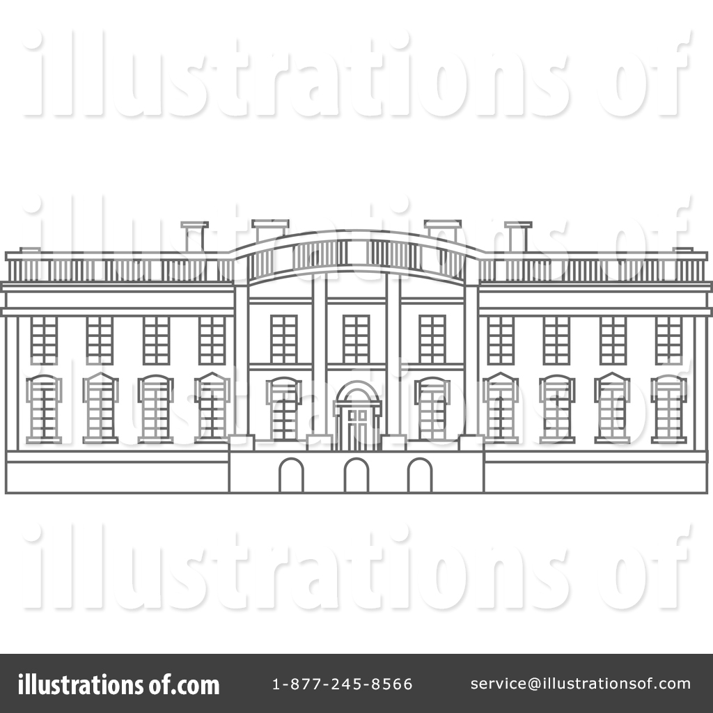 White house free clipart image black and white stock The White House Clipart #1382476 - Illustration by Vector ... image black and white stock