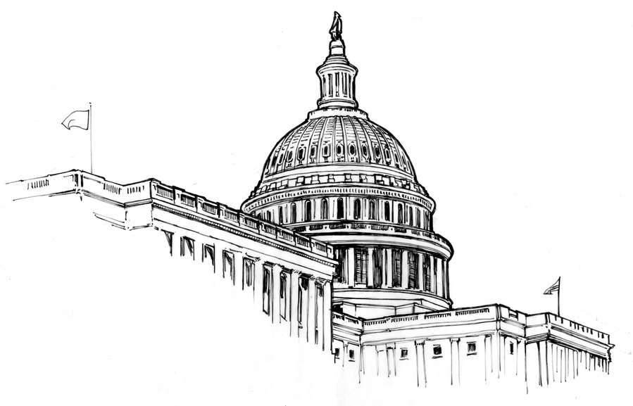White house legislative house clipart image free library Download JPEG clipart United States Capitol White House ... image free library