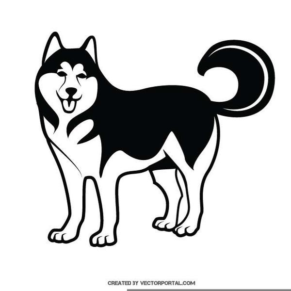 White husky clipart banner black and white Husky Clipart & Look At Husky HQ Clip Art Images - ClipartLook banner black and white