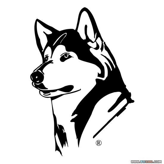 White husky clipart clipart transparent library Black And White Dog Clipart Huskies PNG Image Latest ... clipart transparent library