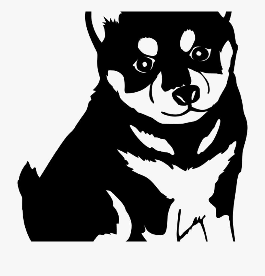 White husky clipart jpg stock Husky Puppy Clipart - Shiba Inu Black And White Sticker ... jpg stock