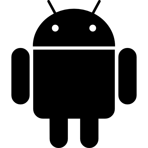 White icons clipart android image library download Android logo Icons | Free Download image library download
