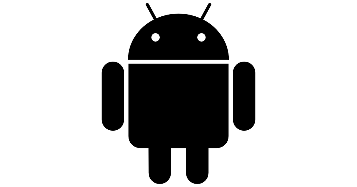 White icons clipart android png black and white Android logo - Free logo icons png black and white