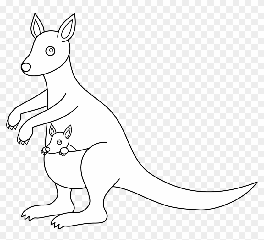 White kangaroo clipart clip library download 6956 X 6001 7 - Kangaroo Clipart Black And White Png ... clip library download