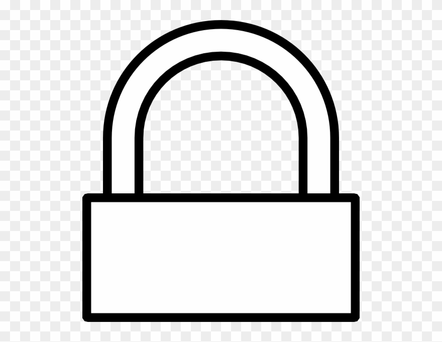 White keyed lock clipart picture royalty free Key Lock Clipart - Easy Drawings Of A Lock - Png Download ... picture royalty free