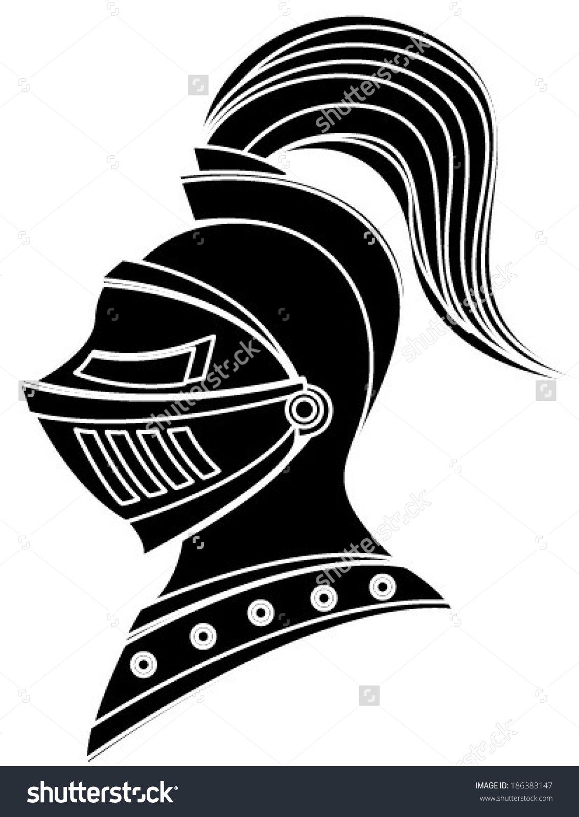 White knight helmet clipart