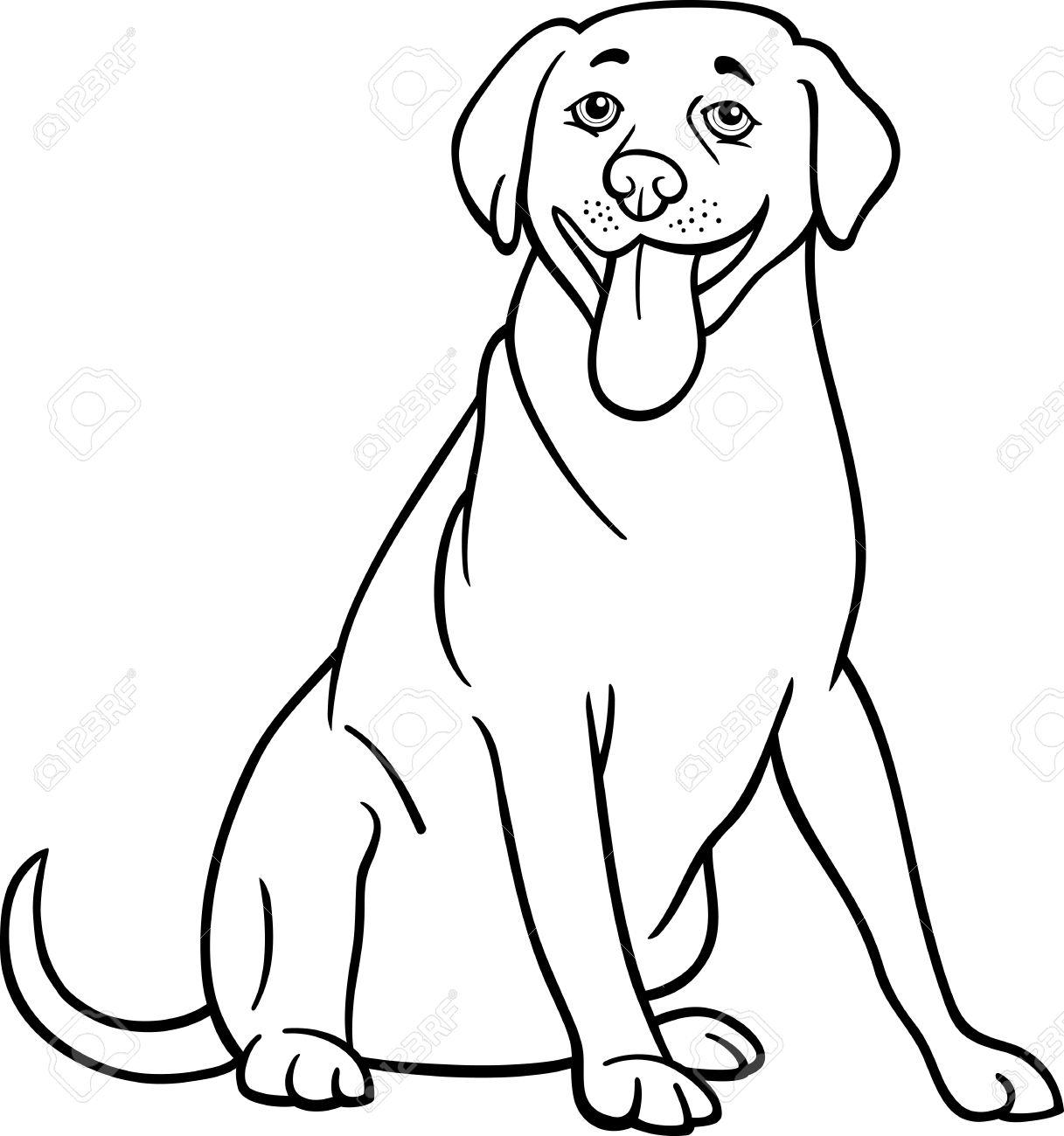 Labrador retriever clipart black white free svg black and white download Black And White Dog Drawing 5,026 Labrador Retriever ... svg black and white download