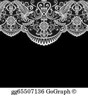 Lace border clipart clip transparent Lace Clip Art - Royalty Free - GoGraph clip transparent