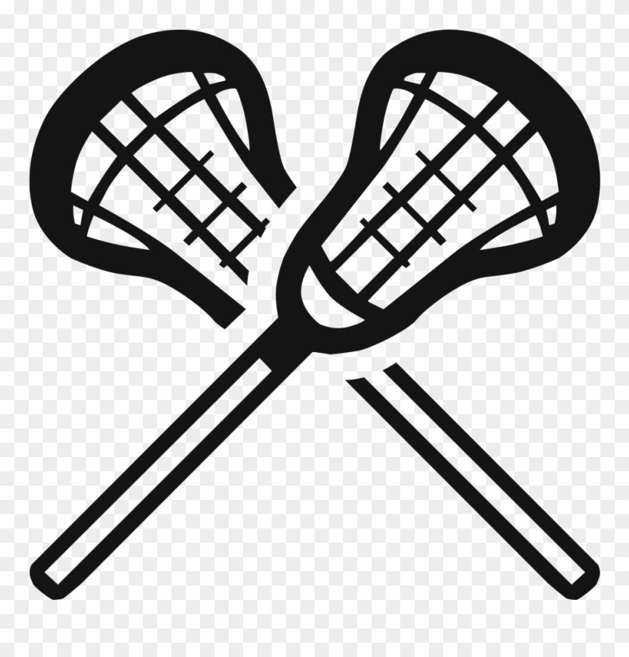 La crosse clipart clipart black and white Lacrosse - Transparent Png Lacrosse Sticks Clipart (#1612688 ... clipart black and white