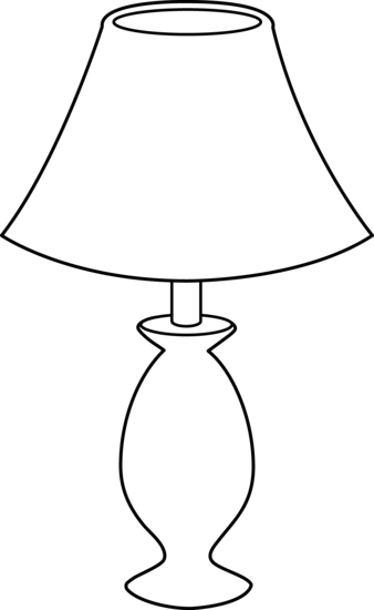 White lamp clipart black and white Black and White Lamp Line Art - Free Clip Art black and white
