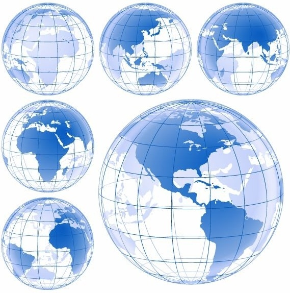 White land blue water earth images clipart clip transparent download Blue Earth Globe Vector Set Free vector in Encapsulated ... clip transparent download