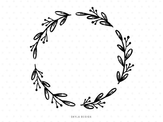 White leaf wreath clipart picture transparent stock Leaves wreath Svg cutfile Thanksgiving Autumn clipart ... picture transparent stock