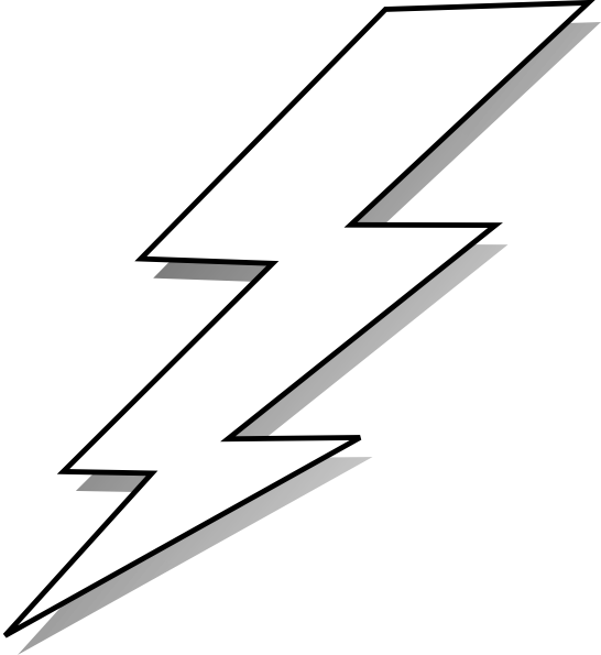 White lightning clipart transparent comic lightening | Black And White Lightning Bolt clip art ... transparent