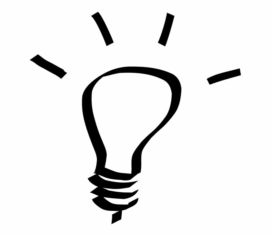 White lightbulb clipart free Light Bulb Clipart Black And White, Transparent Png Download ... free