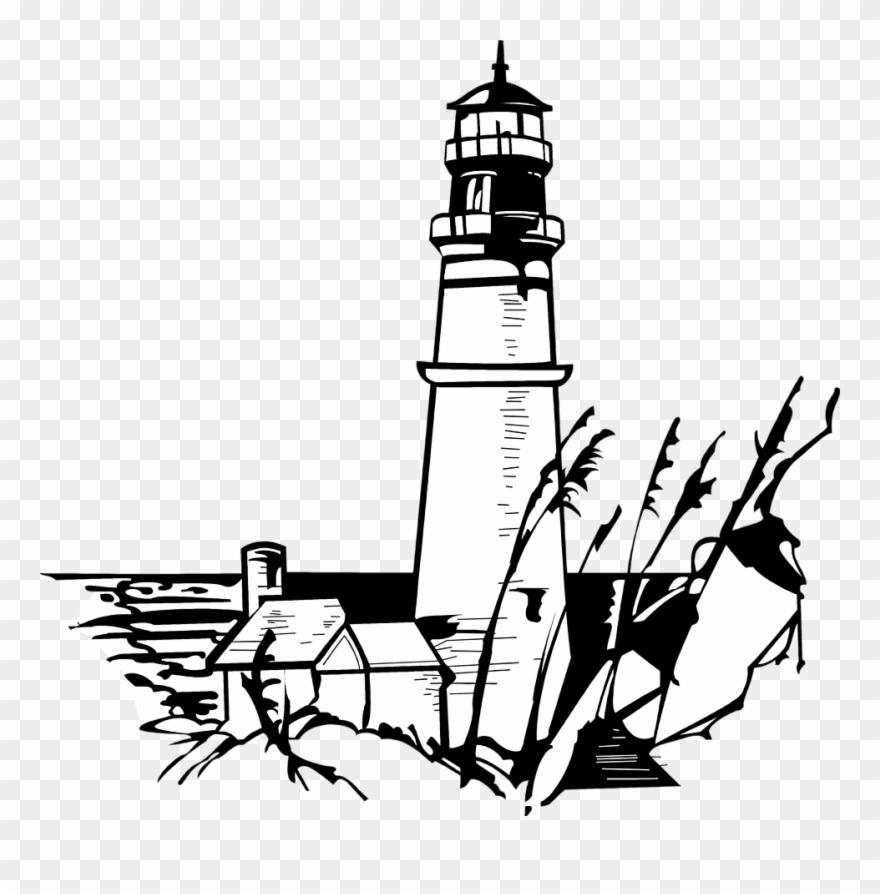White lighthouse images clipart image black and white stock Lighhouse Clipart House - Black And White Lighthouse Art ... image black and white stock