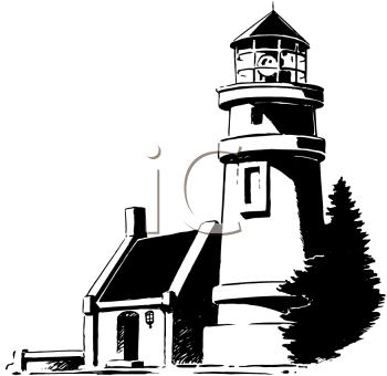 White lighthouse images clipart vector library download Black and white lighthouse clipart » Clipart Station vector library download