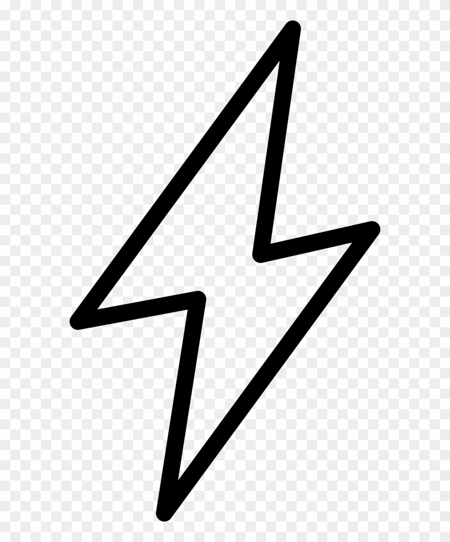 White lightning bolt clipart picture library library Flash Lightning Bolt Comments - Lightning Symbol White Png ... picture library library