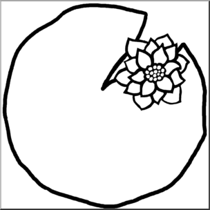 White lily pads clipart clip download Lily Pad Clipart Black And White | Free download best Lily ... clip download