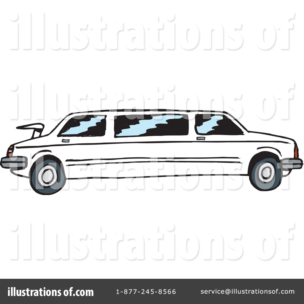 White limo clipart jpg black and white Limo Clipart #41124 - Illustration by Dennis Holmes Designs jpg black and white