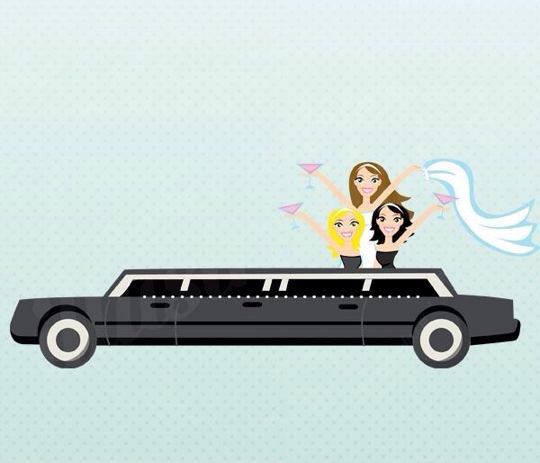 White limo clipart clip free download Bachelorette Party Limo | Bridal Shower Ideas | Bridal ... clip free download