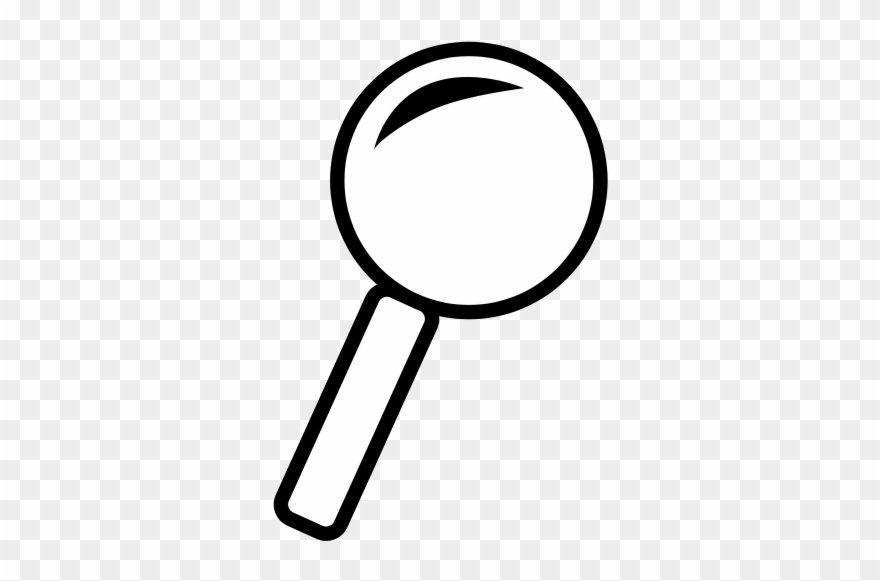 White magnifying glass icon clipart jpg royalty free library Magnifying Glass Outline Icon - Magnifying Glass Clipart ... jpg royalty free library
