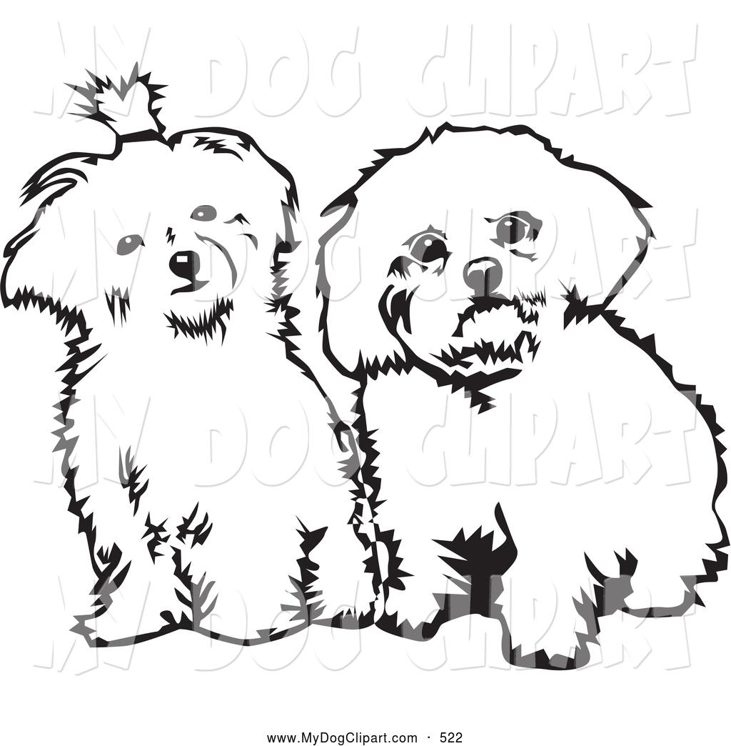 White maltese dog clipart clip art transparent Clip Art of a Pair of Cute Maltese Dogs Sitting Side by Side ... clip art transparent