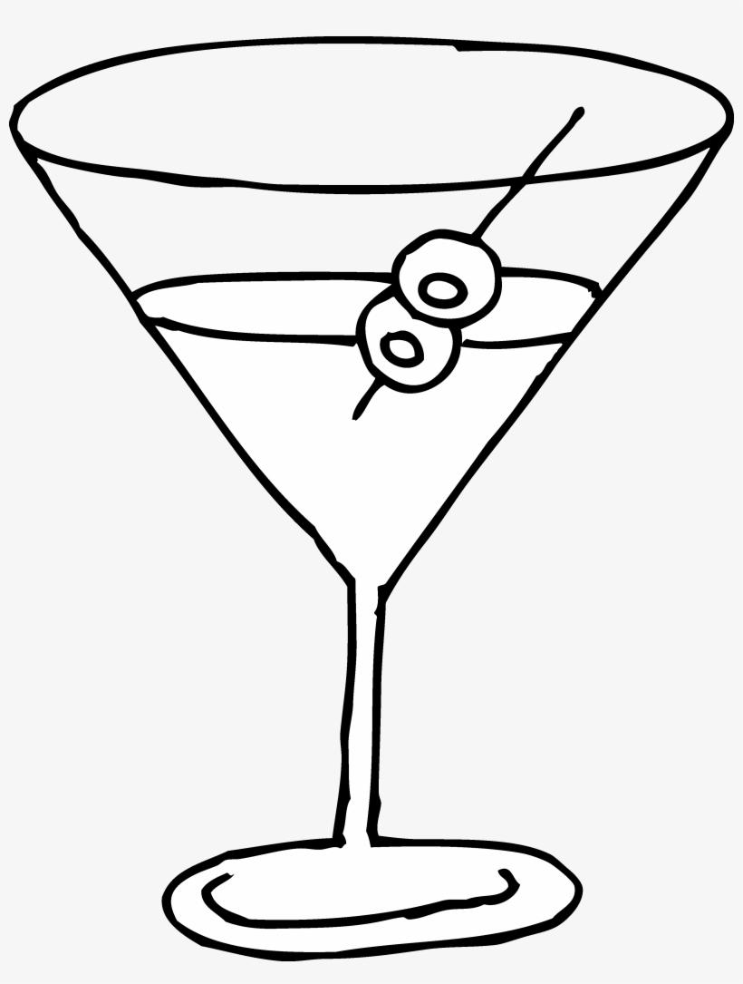 White martini glass clipart clip free library Martini Glass Line Art Free Clip Art - Martini Clipart Black ... clip free library