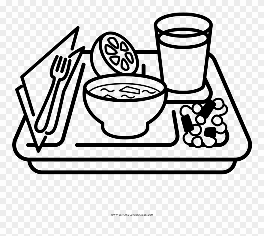 Library of white meal tray clipart stock png files Clipart ...