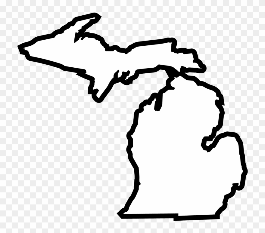 White michigan clipart free library Solid Color Die Cut 4\