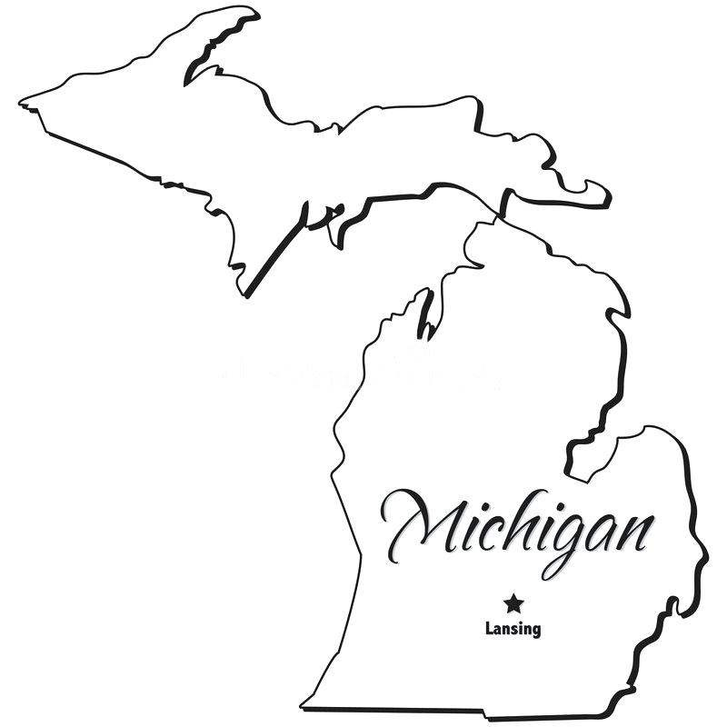 White michigan clipart svg royalty free Download state of michigan outline clipart Michigan State ... svg royalty free
