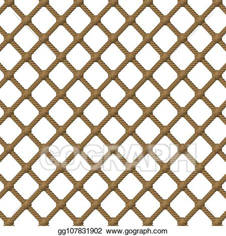 White netting material clipart clip royalty free Vector Stock - Rope net pattern. Clipart Illustration ... clip royalty free