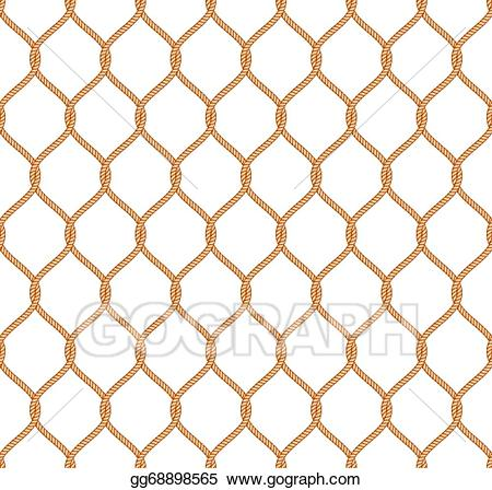 White net material clipart vector library library Vector Illustration - Rope marine net pattern. EPS Clipart ... vector library library