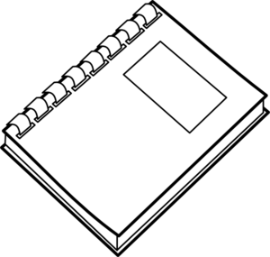 White notebook clipart picture free library Spiral Notebook Clip Art at Clker.com - vector clip art ... picture free library