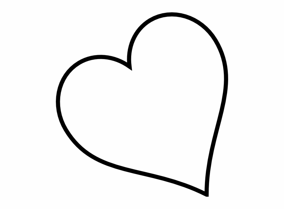 White outline heart clipart free image Black Heart Heart Black And White Broken Heart Clipart ... image
