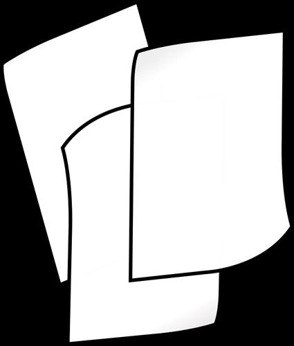 White paper clipart image transparent library White paper stack | Public domain vectors image transparent library
