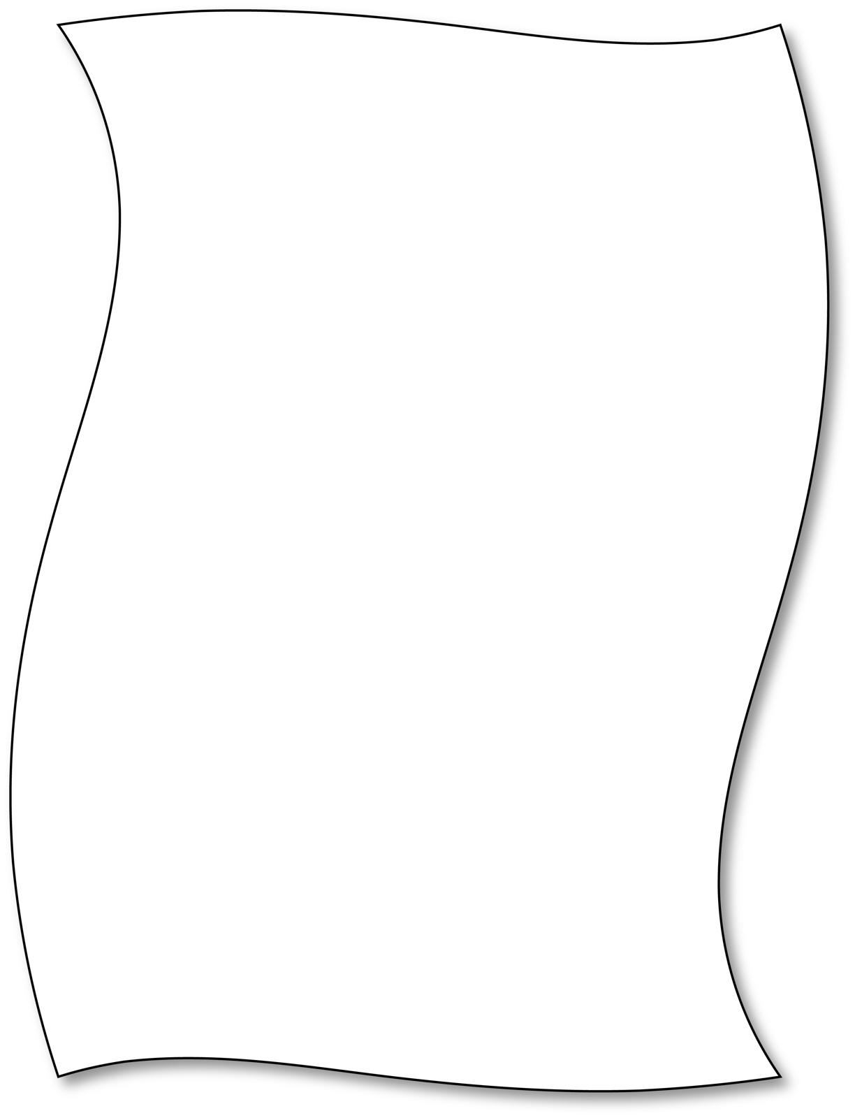 White paper clipart graphic black and white download Free photo: White Paper Border - Graphic, Page, Paper - Free ... graphic black and white download