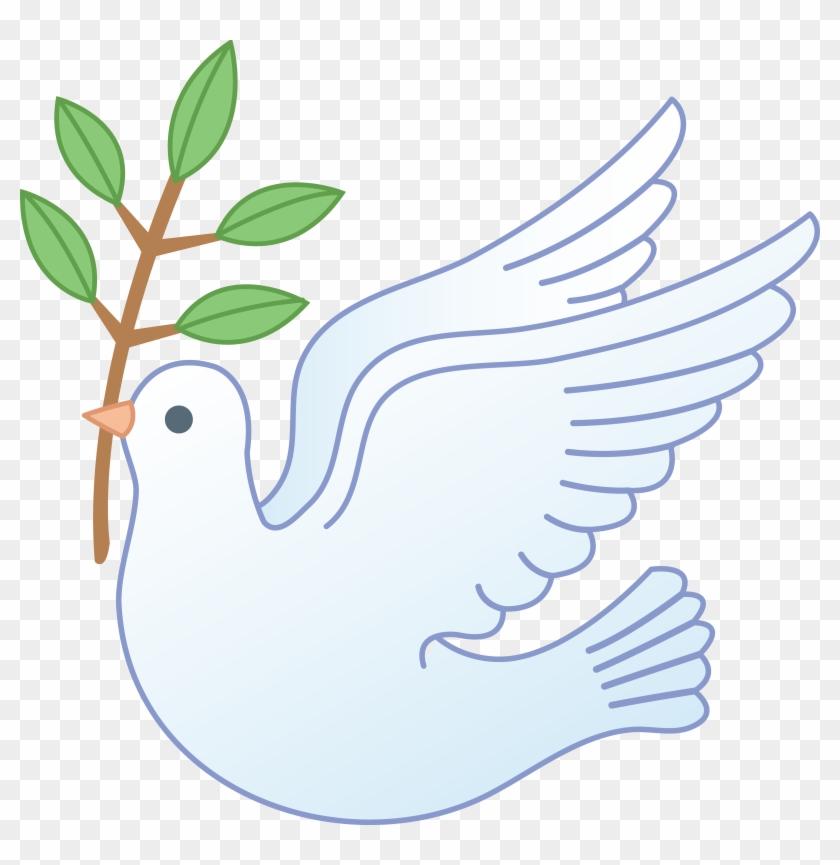 White peace dove clipart vector black and white library White Peace Dove With Branch - Clip Art Dove Of Peace, HD ... vector black and white library