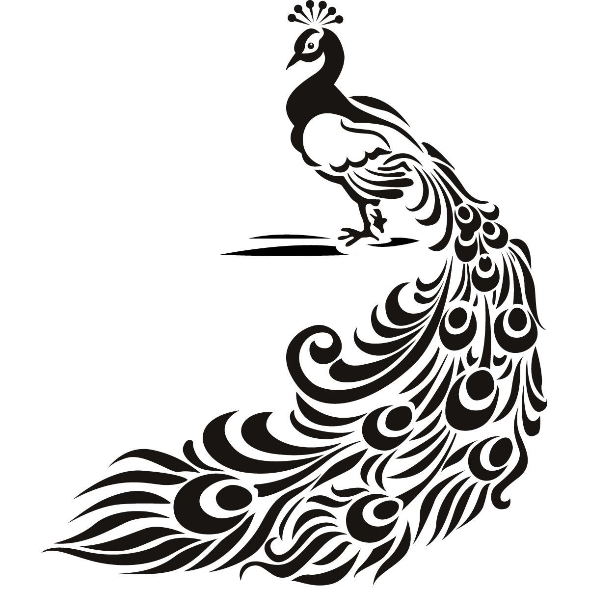 White peacock clipart banner royalty free Details about Peacock Bird Animal Wall Art Stickers Wall ... banner royalty free