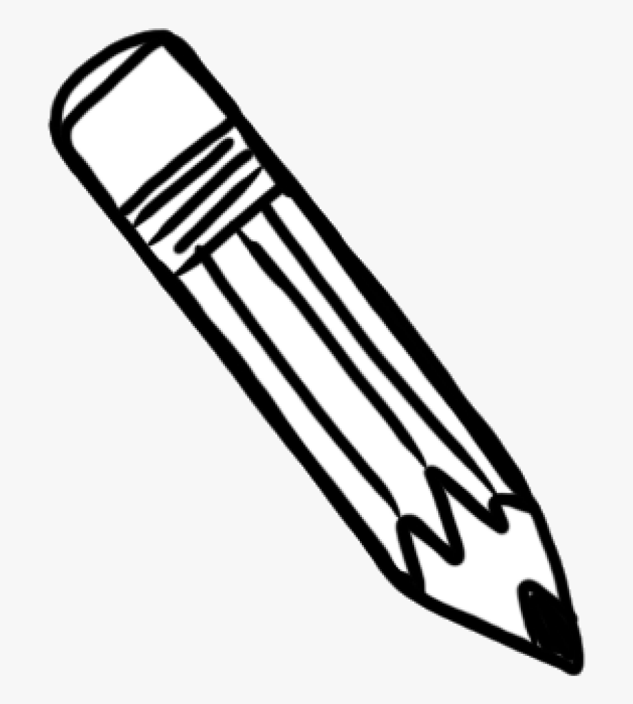 White pencil clipart transparent svg royalty free library Black And White Png Of Pencil & Transparent Images - Black ... svg royalty free library