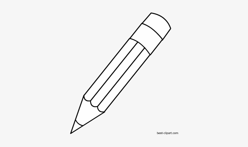 White pencil clipart transparent vector freeuse download Black And White Pencil With Eraser Clip Art - Clip Art PNG ... vector freeuse download